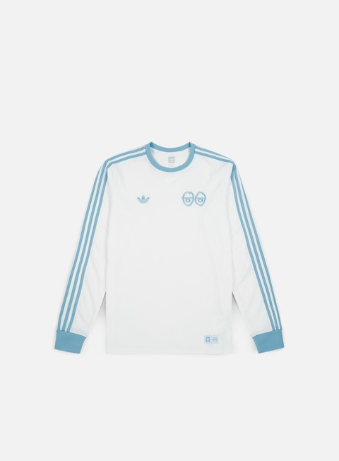 t shirt adidas skateboarding krooked ls t shirt white clear blue