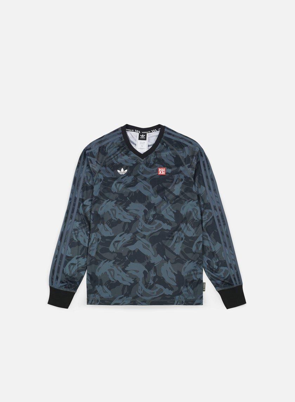 Adidas Skateboarding - Mhak AOP LS Jersey, Black/Onix