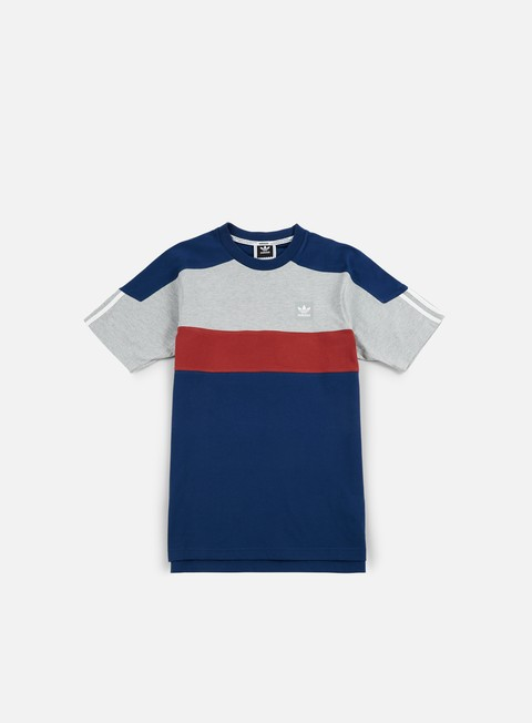 t shirt adidas skateboarding nautical top t shirt mystery blue grey mystery red