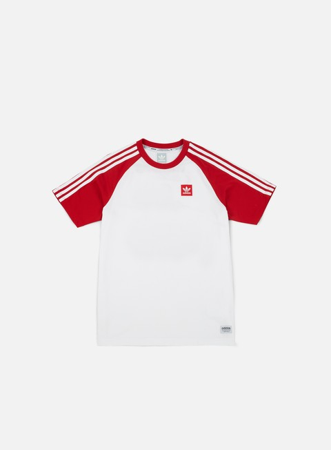 t shirt adidas skateboarding soccer jersey white scarlet