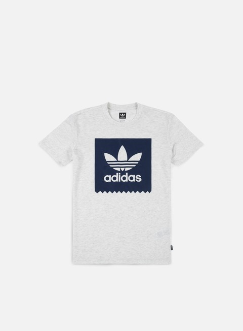 t shirt adidas skateboarding solid bb t shirt pale melange indigo night