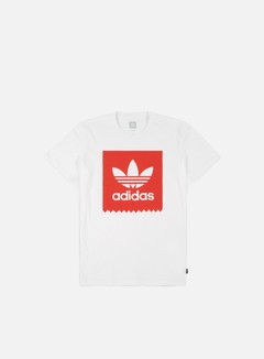 Adidas Skateboarding - Solid BB T-shirt, White/Trace Scarlet