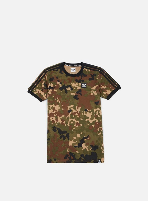t shirt adidas skateboarding striped camo t shirt camo print black
