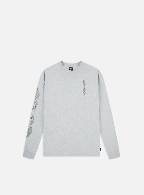 Outlet e Saldi T-shirt a Manica Lunga Adidas Skateboarding Sweet Hands T-shirt