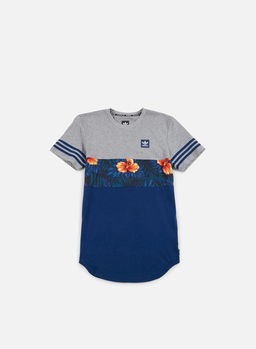 Adidas Skateboarding - SWT LF Long T-shirt, Core Heather/Mystery Blue/Multicolor