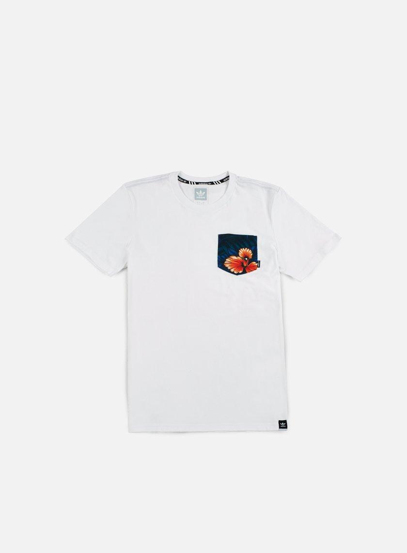 Adidas Skateboarding - SWT LF Pocket T-shirt, White/Multicolor