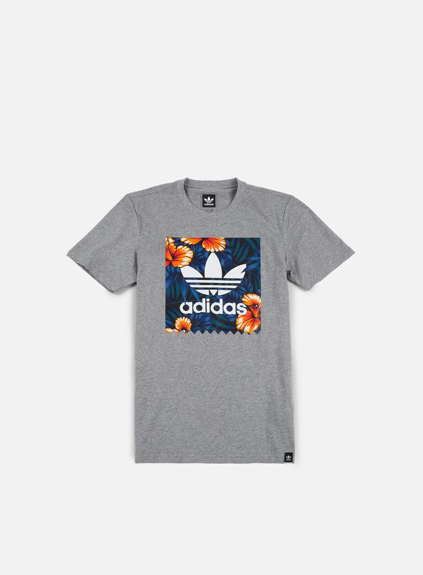 Adidas Skateboarding - SWT LF T-shirt, Core Heather/Multicolor
