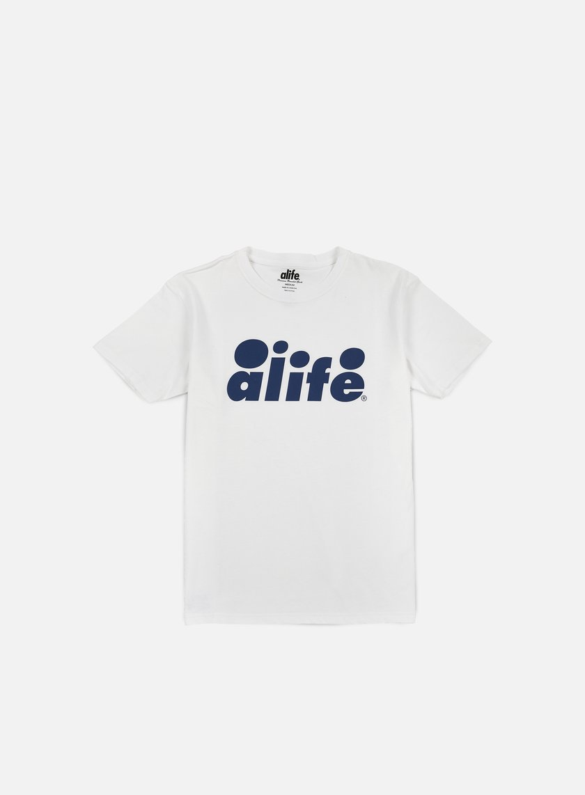 Alife - Bubble Logo T-shirt, White/Navy