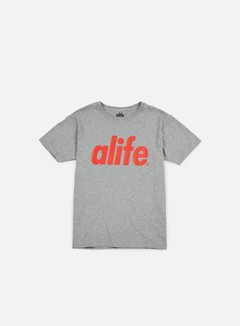Alife - Core T-shirt, Heather Grey/Red 1