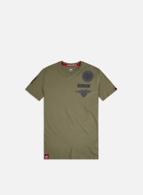 Outlet e Saldi T-shirt a Manica Corta Alpha Industries Air Crew T-shirt