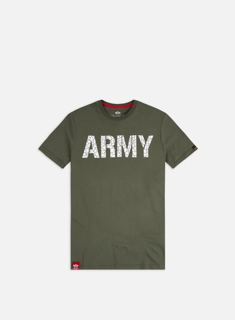 Short Sleeve T-shirts Alpha Industries Army Crack T-shirt