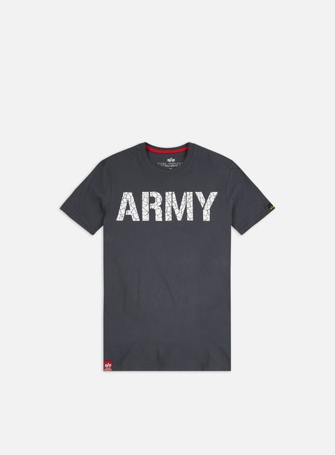 Outlet e Saldi T-shirt a Manica Corta Alpha Industries Army Crack T-shirt