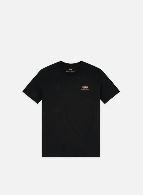 Sale Outlet Short Sleeve T-shirts Alpha Industries Basic Logo Foil Print T-shirt