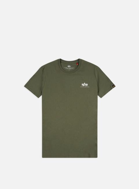 Outlet e Saldi T-shirt a Manica Corta Alpha Industries Basic Small Logo T-shirt