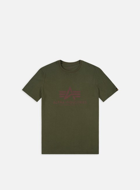 t shirt alpha industries basic t shirt dark green