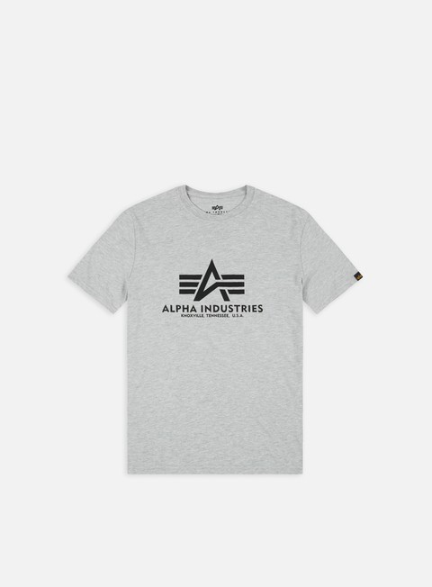 t shirt alpha industries basic t shirt grey heather