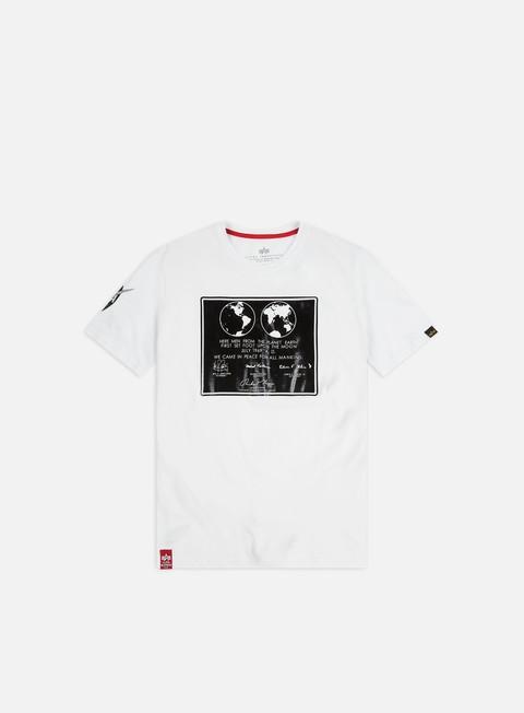 Outlet e Saldi T-shirt a Manica Corta Alpha Industries Lunar Plaque T-shirt