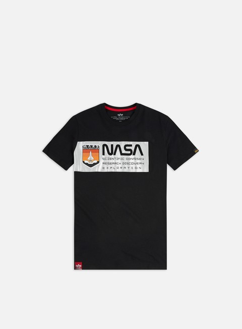 Outlet e Saldi T-shirt a Manica Corta Alpha Industries Mars Reflective T-shirt