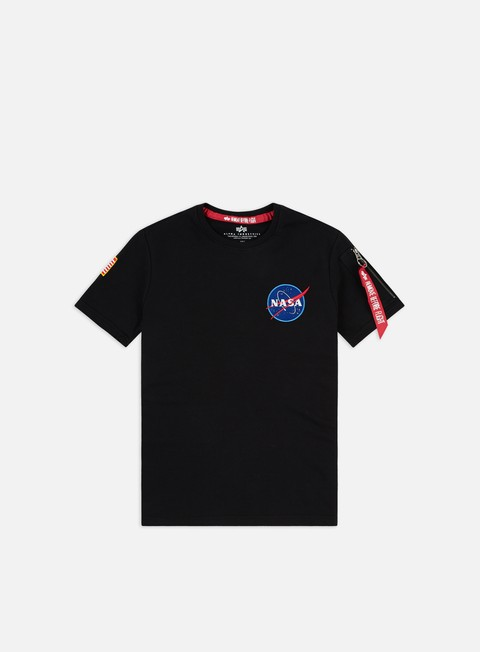 Outlet e Saldi T-shirt a Manica Corta Alpha Industries Nasa Heavy T-shirt