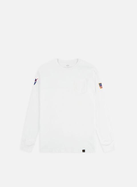 Sale Outlet Long sleeve T-shirts Alpha Industries Nasa LS T-shirt