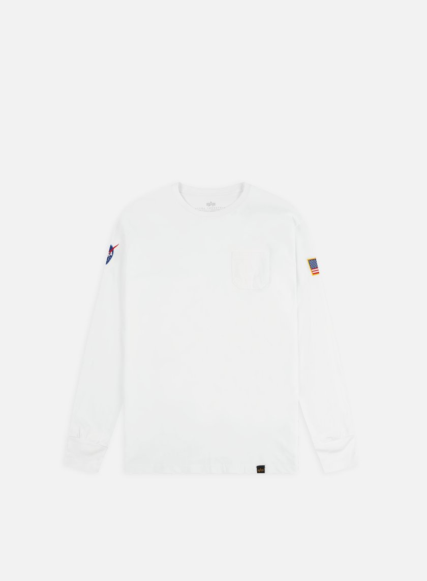 Alpha Industries - Nasa LS T-shirt, White