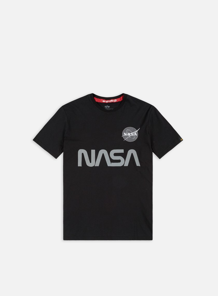 Alpha Industries - Nasa Reflective T-shirt, Black