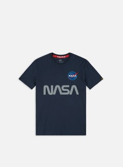 Alpha Industries - Nasa Reflective T-shirt, Replica Blue
