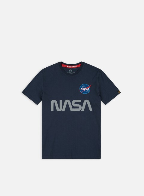 Outlet e Saldi T-shirt a Manica Corta Alpha Industries Nasa Reflective T-shirt