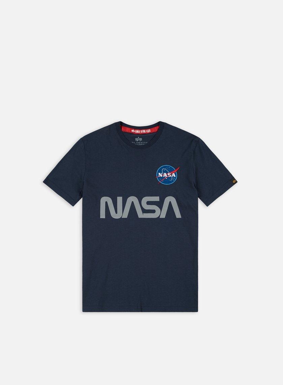 Alpha Industries - Nasa Reflective T-shirt, Replica Blue