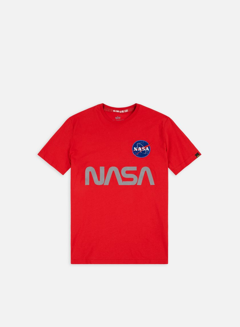 Alpha Industries - Nasa Reflective T-shirt, Speed Red