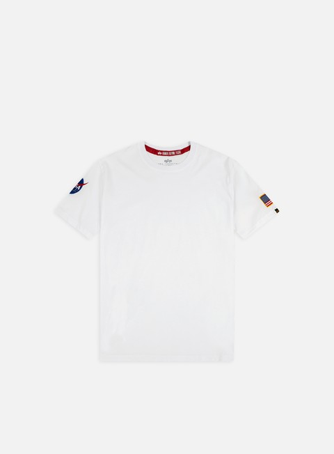 t shirt alpha industries nasa t shirt white
