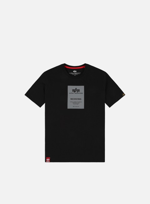 Short Sleeve T-shirts Alpha Industries Reflective Label T-shirt