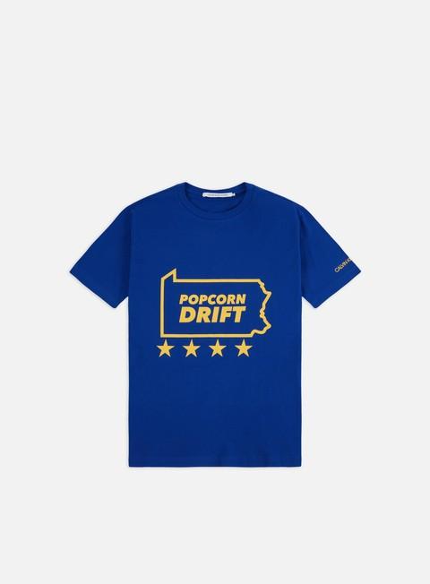 Outlet e Saldi T-shirt a Manica Corta Calvin Klein Jeans Americana Slogan T-shirt