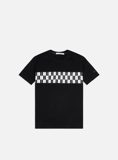 Short Sleeve T-shirts Calvin Klein Jeans Checkerboard Stripe T-shirt