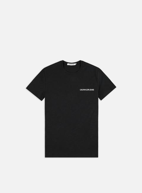 Outlet e Saldi T-shirt a Manica Corta Calvin Klein Jeans Chest Institutional Slub Slim T-shirt