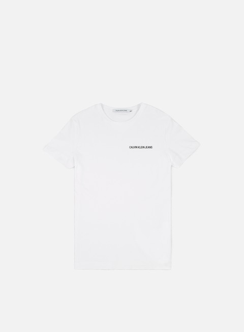 t shirt calvin klein jeans chest institutional t shirt bright white