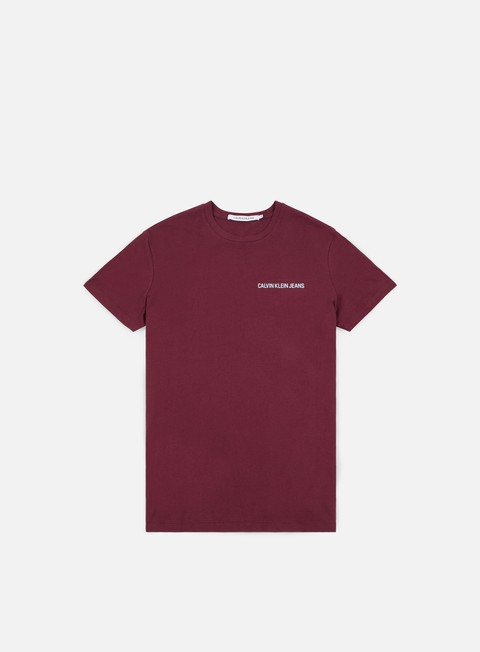 t shirt calvin klein jeans chest institutional t shirt tawny port