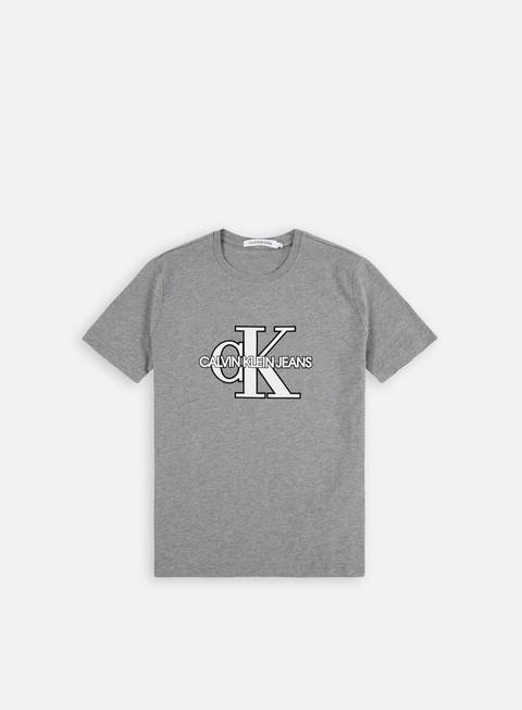 Outlet e Saldi T-shirt a Manica Corta Calvin Klein Jeans CK Monogram Front Logo T-shirt