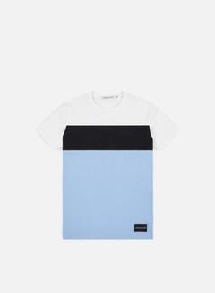 Calvin Klein Jeans - Color Block Slim T-shirt, Bright White/Ck Black/Chambray Blue