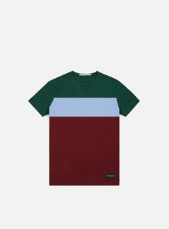 Calvin Klein Jeans - Color Block Slim T-shirt, Jun Bug/Chambray Blue/Tawny Port