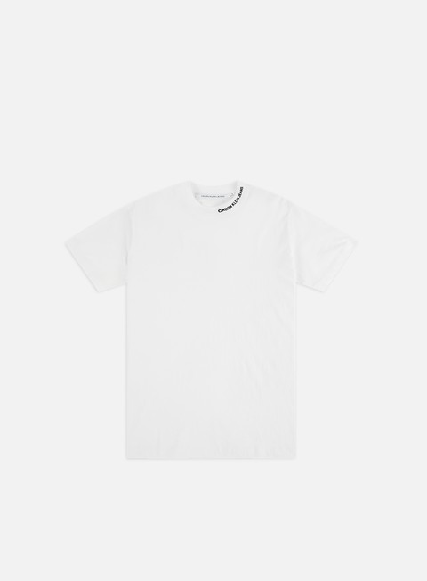 Short Sleeve T-shirts Calvin Klein Jeans Embro On The Neck T-shirt