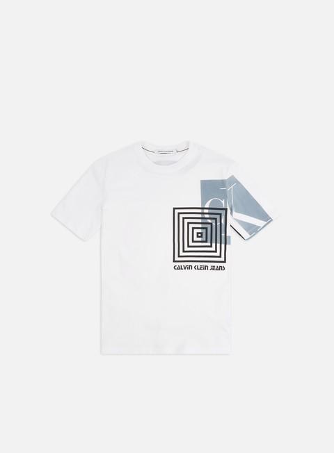 Outlet e Saldi T-shirt a Manica Corta Calvin Klein Jeans Flyer Off Placement T-shirt