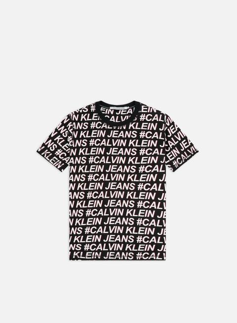 Short Sleeve T-shirts Calvin Klein Jeans Hashtag Logo Aop Regular T-shirt