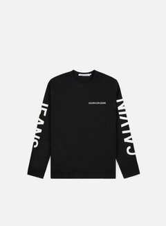 Calvin Klein Jeans - Institutional Back Print LS T-shirt, CK Black