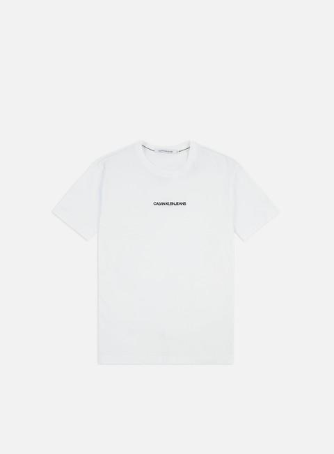 Short Sleeve T-shirts Calvin Klein Jeans Institutional Chest Logo Regular T-shirt