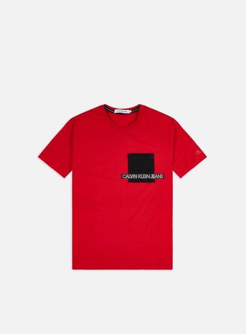 T-shirt a Manica Corta Calvin Klein Jeans Institutional Contrast Pocket T-shirt