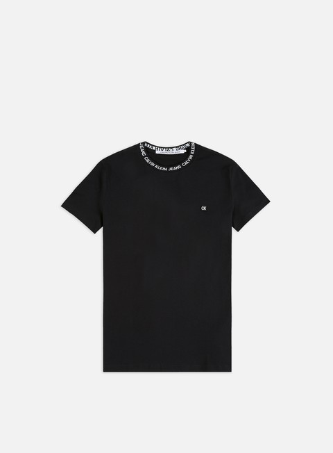 Short Sleeve T-shirts Calvin Klein Jeans Institutional logo Neck Rib T-shirt