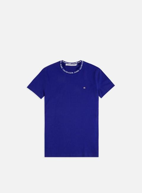 Outlet e Saldi T-shirt a Manica Corta Calvin Klein Jeans Institutional logo Neck Rib T-shirt