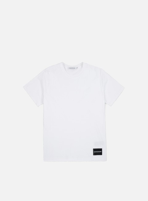 t shirt calvin klein jeans institutional logo t shirt bright white