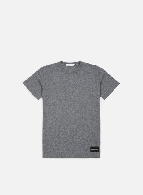 t shirt calvin klein jeans institutional logo t shirt grey heather